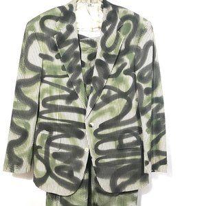 RALPH LAUREN X CUSTOM Seersucker Suit Camouflage